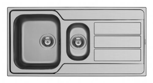 Pyramis Athena Stainless Steel 1.5 Bowl Sink & Tap - 1000 x 500mm